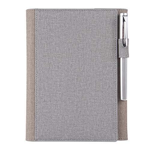 DLYGH Blocs de Notas Bloc de Notas A5 Cuaderno de Cuero Oficina de Visita de Encargo del Cuaderno Gris (Color : Blue-Green, Size : -)