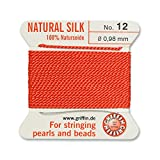 Griffin Bead Cord Silk Coral #12