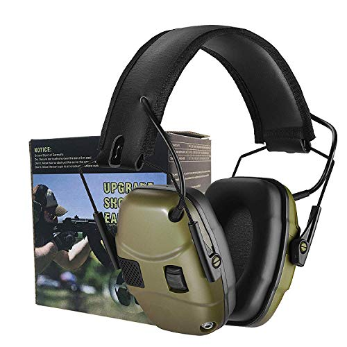 Electronic Shooting Earmuff for Impact Sport, Sound Amplification Ear Protection Muff, Noise Reduction Hunting Earmuff, NRR 22dB, Ideal for Shooters and Hunting