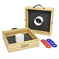BACKYARD CLASSIC: Includes 2 targets & 8 washers, fully assembled so friends and family are playing in no time HANDCRAFTED: Premium birch wood with mitered corner joints REGULATION SIZE: Perfect for enthusiasts, set meets regulation size guidelines f...