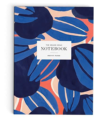 Skandinavisches Notizbuch A5 blanko Softcover 148 x 210 mm, 64 Seiten: Blaue Blätter