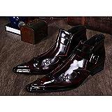 XER Zapatos Casuales de caña alta para Hombre, puntiagudos, Botas Martin, personalidad de tendencia de patrón de cocodrilo para formal, boda, Casual, oficina, Fiesta, Talla 37 a 46,C,39