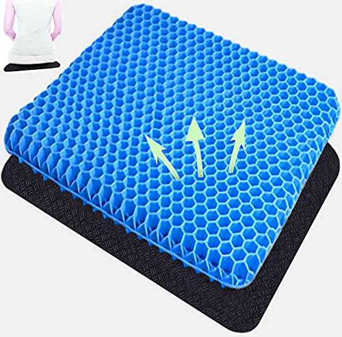 Sitzkissen /Gel-Sitzkissen , Linderung von Rückenschmerzen , für Auto, Büro, Rollstuhl , Stuhl (Blau)