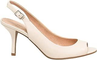 LE CHÂTEAU Leather Peep Toe Slingback Sandal