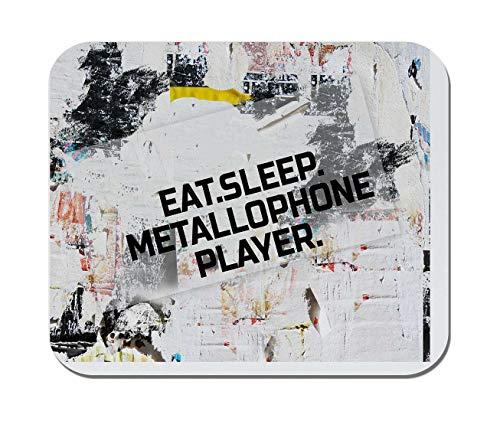 Makoroni - EAT Sleep METALLOPHONE Player Music Musician - Non-Slip Rubber - Computer, Gaming, Office Mousepad