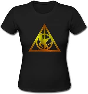 Hunger Games Harry Potter Custom Design Womens Cotton T-Shirt Tee