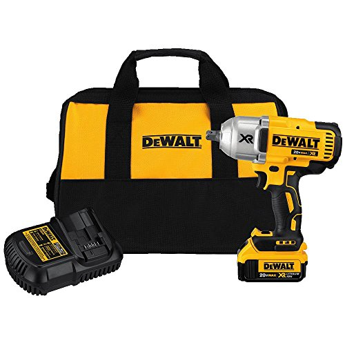 DEWALT 20V MAX XR Impact Wrench Kit, Brushless, High Torque, Detent Pin Anvil, 1/2-Inch (DCF899M1)