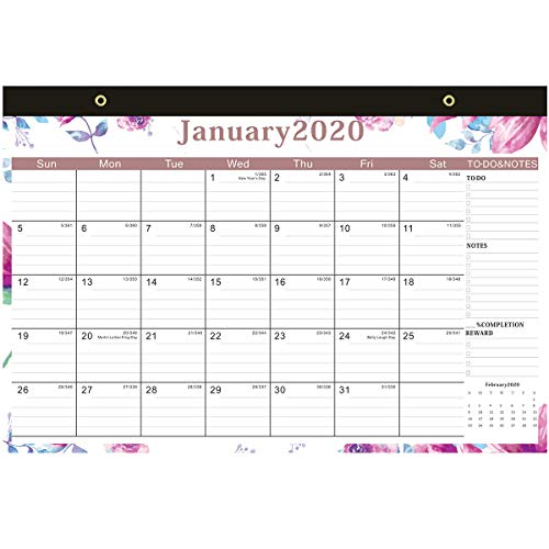 Calendar 2020-2020 Wall Calendar Planner Month to View Family Home Office Acdemic Organiser