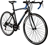 Max4out Road Bike for Men and Women, Featuring 21 Speed Drivetrain, 700C Wheel and Y Brake Suspension Fork Rear Suspension Bicycles Blue