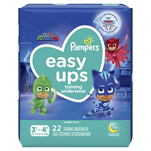 Pampers Easy Ups Training Underwear Boys Size 5 3T-4T 22 Count (Packaging May Vary)