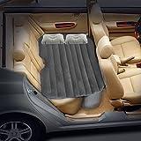 Opar Car Travel Matelas gonflable Lit gonflable Camping Back Seat Extended Mattress w / 2 Oreillers pour parent-enfant ou Amant (Flocage Gris)