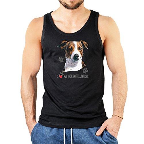 Männer-Tank -Top/Träger-Shirt/Muskel-Shirt Hunde Druck: Jack Russel - geniales Geschenk