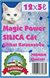 Futterhof Magic Power Silikat Katzenstreu 12 x 5 ℓ = 60 ℓ Premium Qualität