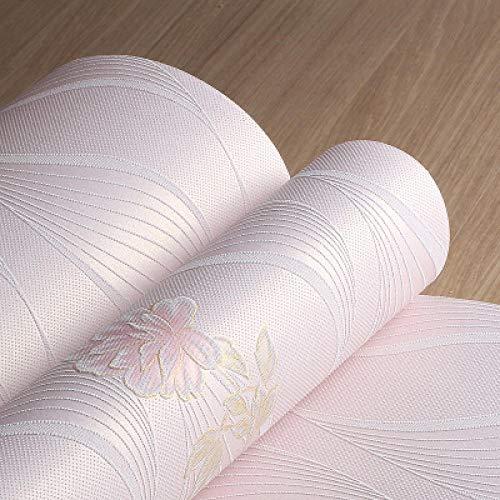 Venta Papel Pintado Estilo europeo 3d Rayas verticales Flores Dormitorio TV Sofá Fondo Papel de pared no tejido 5.3㎡
