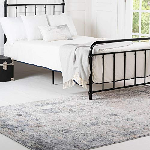 Rugs.com Caspian Collection Area Rug – 5X8 Cream Low-Pile Rug Perfect for Bedrooms, Dining Rooms, Living Rooms