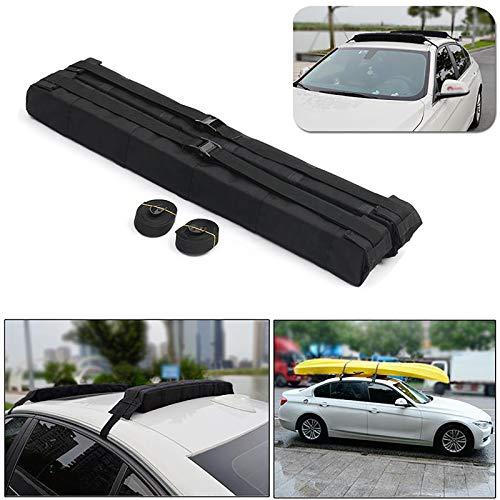 Universal-Auto-Gepäckträger für Autos, weich auf dem Dach, Dachgepäckträger - Passt für die meisten Autos,82.5 x 9 x 8.23 cm,Auto Dachgepäckträger Für Surfbrett Kajak SUP Snowboardhalter