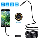 USB Endoscope, Teslong 5.5mm Borescope Inspection Camera for Android, Windows &...