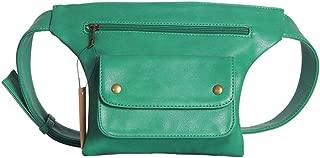 YWSCXMY-AU Casual Waist Pack Women Pu Leather Fanny Packs Multi-Function Waist Bags Female Money Phone Wallet Belt Bag (Color : Green)