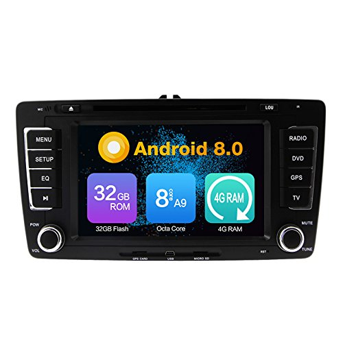 Android 10.0 Stéréo DVD 4G Ram 64G Rom Autoradio GPS La Navigation Radio PourSKODA Octavia 2009-2015