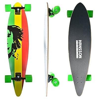"""Hansson.Sports Top Longboard Komplett Skateboard Long Board 41"""" (104cm) Jamaica"""