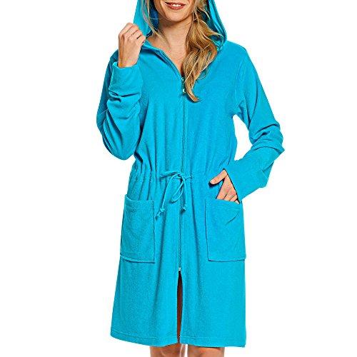 WeWo fashion Damen Kapuzenmantel 031 türkis XL