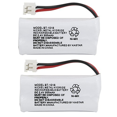 Kastar 2-PACK BT1018 Cordless Phone Battery for Uniden BT-1011 BT-1018 BT-6010 BT-184342 BT-28433 BT-18433 BT-284342 BT-8000 BT-8001 BT-8300 CS6219 CS6229 DS6111, DECT3080 DECT3080-2 DECT4086 DECT4096