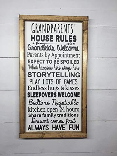 GRANDPARENT GIFT | GRANDPARENTS' HOUSE RULES | GRANDMA AND GRANDPA GIFT | GRANDPARENTS HOUSE RULES | GRANDPARENT SIGN