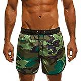 Pantalones cortos de verano para hombre, de secado rápido, para la playa, surf, running, natación, pantalones cortos de deporte para running, surf, deportes y vacaciones. verde S