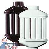 Mistermoby Intercambiador de Calor a 8 Tubos Redondos Tubo Difusor y Recuperación de Calor Para Estufa de 10 cm de Diámetro, Color Marrón