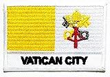 Nipitshop Aufnäher Vatikanstadt Flagge Patch Nationalflagge Patch Vatikanstadt Weltflaggen bestickt Patch für Kleidung Rucksäcke T-Shirt Jeans Rock Westen Schal Hut Tasche
