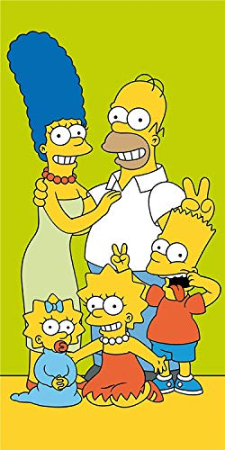 for-collectors-only Simpsons Handtuch Family Green Badetuch Strandtuc Beach Towel 70 x 140cm Homer Bart Maggie Lisa