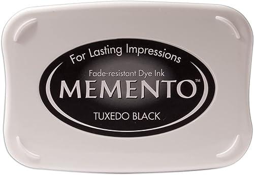 Tsukineko ME000900 Full-Size Memento Fade Resistant Inkpad, Tuxedo Black (50') (Improved)