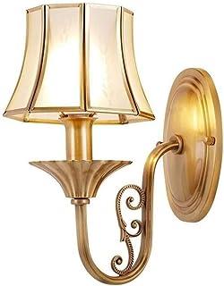 الإضاءة الزخرفية Creative Simple Copper Wall Personalized European Bedside Wall Light E14 Retro Wall Light Balcony Outdoor...