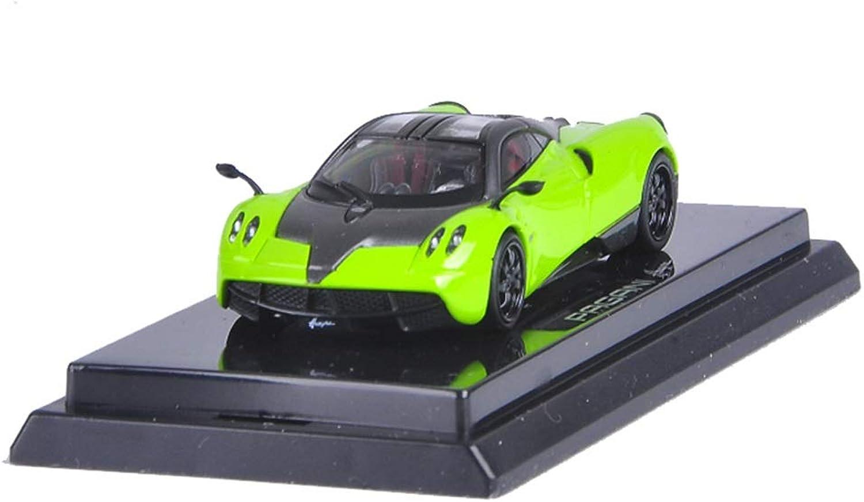 LJJOZ modellolo in Lega 1 64 modello auto Simulation tuttioy con Base Design Five Coloree Opzionale da Collezione (Coloree   verde)