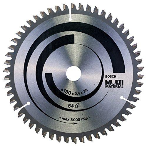 Bosch Professional Kreissägeblatt (für Multi Material, AußenØ: 190 mm, Bohrung: 20 mm, Zubehör für Kreissägen)