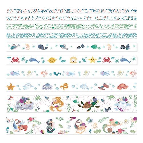 MYhose Washi Tape 10 unids/Caja Cute Cartoon Animal Washi Tapes Scrapbooking DIY Decoración Etiqueta Adhesiva 4