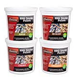 Camerons Smoking Wood BBQ Pellets (Apple, Cherry, Hickory, Mesquite)- 4 Pack of Pints Value Gift...