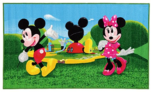 Disney Mickey Mouse Clubhouse Teppich, Synthetikfaser, Mehrfarbig, 80 x 140 x 1,12 cm