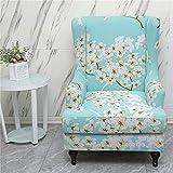 Fundas para sillas, 2 piezas, silla de orejas elástica, tela de licra lavable, funda para sofá, flor de planta 3D, protector de muebles para sillones, sillas, sala de estar, dormitorio, hotel (Magnol
