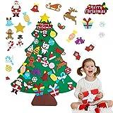 Jangostor 30 UNIDS Fieltro Árbol de Navidad 100CM DIY Colgante de Pared Árbol de Navidad para niños Suministros para Fiestas Decoración de Navidad Decoraciones para el hogar