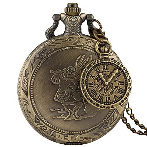 Reloj de bolsillo con colgante de latón estilo vintage de cobre steampunk y bronce hueco, para hombres y mujeres con accesorio (color 5)