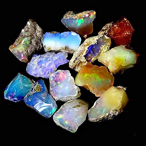 Duggu Ultra Fire Opal Rough Gemstone, Raw Crystals Gemstone, Ethiopian Opal Rock, Jewelry Making Supplies, Chakra Healing, Energy Stone, Reiki, Yoga, Meditation, Art-Crafts-DIY Stone, 30.00 carats 211