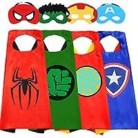 スーパーヒーローケープ 子供用 スーパーヒーローコスチューム 男の子用 アベンジャーズおもちゃ 4~10歳の男の子へのギフトに