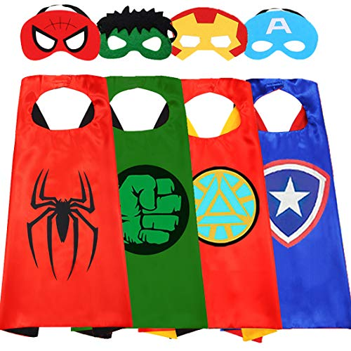 Superhero Capes for Kids-Superhero Costumes for Boys Avengers Toys for Kids Dress up 4-10 Year Old Boy Gifts