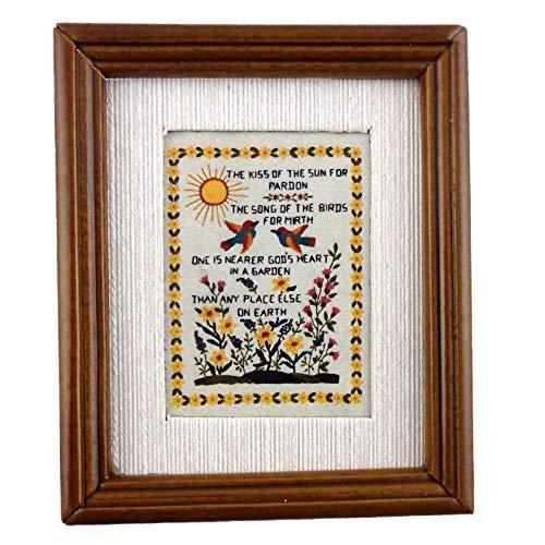 Melody Jane Poupées Miniature Sampler The Kiss of The Sun Image en Cadre