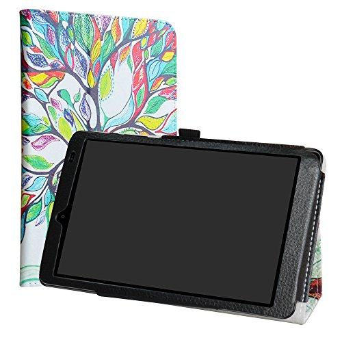 CHUWI Hi9 Funda,LiuShan Folio Soporte PU Cuero Con Funda Caso para CHUWI Hi9 (8,4 pulgadas) Android Tablet (Not Fit CHUWI Hi9 air),Love Tree