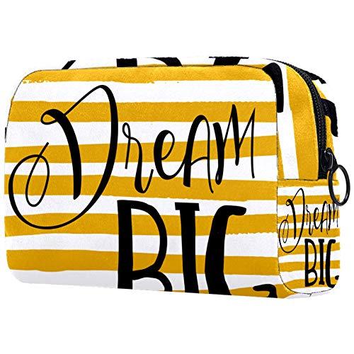Bolsa de cosméticos de viaje grande para mujer – Neceser de viaje y maquillaje cosmético bolsa con muchos bolsillos, conejo animal