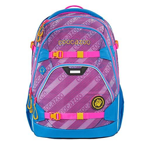 coocazoo Schulrucksack ScaleRale MeshFlash Neonpink blau-rosa, ergonomischer Tornister, höhenverstellbar mit Brustgurt und Hüftgurt für Mädchen ab der 5. Klasse, 30 Liter