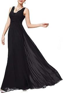 Ever-Pretty Vestito da Festa Donna Corto Davanti Lungo Dietro Abito da Sera Scollo V Lungo 09983-EU2