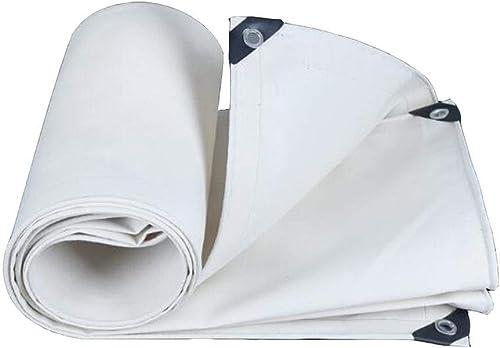 Dall Bache Imperméable Résistant UV 500g   M2 épaisseur De 0.8mm Baches Plusieurs Tailles De Plein Air Tente (Couleur   blanc, Taille   3×3m)